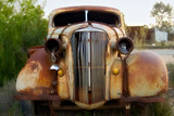 old rusted car poster
