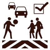 crosswalk safety poster poster