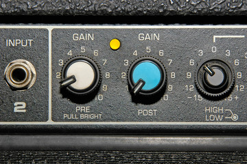 guitar amplifier detail