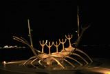 viking boat sculpture poster