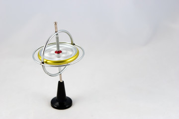 gyroscope spinning on white