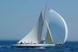 Leinwandbild Motiv barca a vela classica con vento al lasco