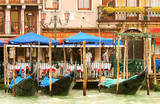 venice italy, gondola's taking a break