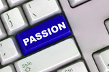keyboard with word of passion poster