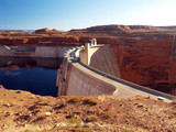 glen canyon dam and lake powell in arizona poster