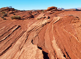 a rock formation in the glen canyon area poster