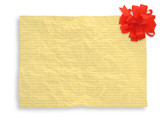 creased blank paper page with decoration poster