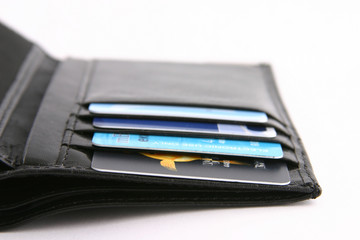 wallet on white background