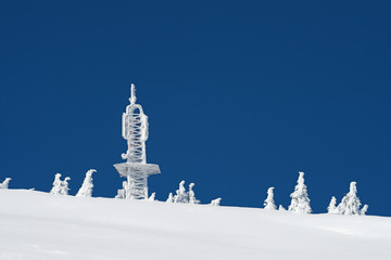 communication center in snow