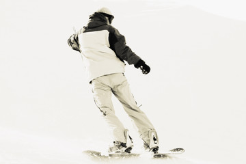 snowboarder on snow