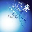 blue motif