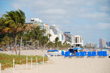 panoramic view of ft lauderdale beach poster