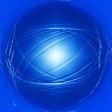 light blue 3d circle background