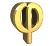 simbolo phi in oro