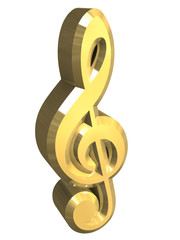 simbolo chiave di violino in oro v2