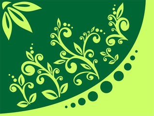 green leaflets ornament