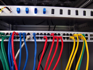 networking patch panel and cables