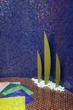 display of ceramic tiles poster