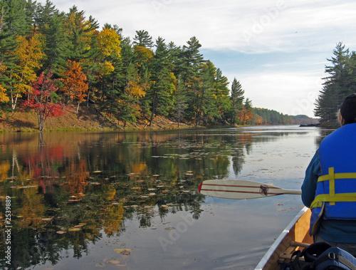 canoing at freeland lake