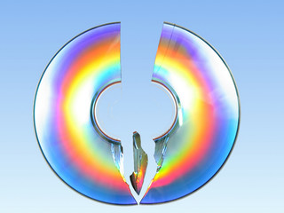 broken cd rainbow effect