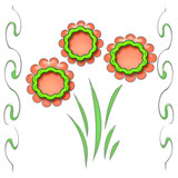 flower cutouts poster poster