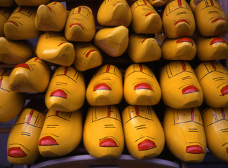 yellow wooden shoes from holland