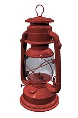 lanterne lampe à pétrole rouge