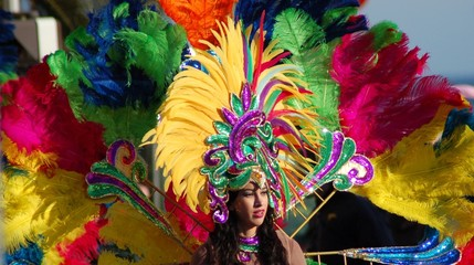 pesonnage de carnaval deguisé