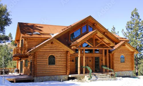 Leinwandbild Motiv log home