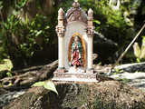 small mexican virgin mary statue poster