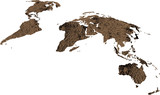 world map flat textured poster