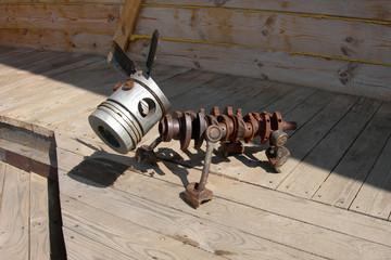 funny mechanical dog. summer.