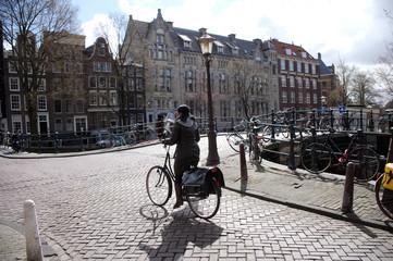 canal cyclist