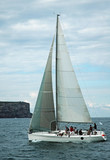yacht sailing poster