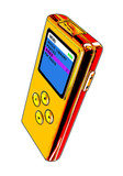 gold mp3 player poster