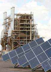 solar panels and power plant