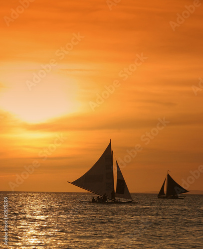canvas print picture sailing away