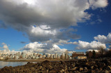 cityscape under clouds poster