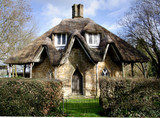quirky thatched cottage poster