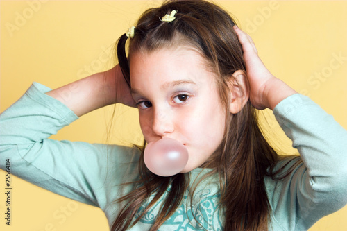 girl and his bubble