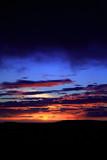 amazing icelandic sunset poster