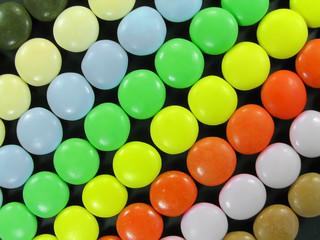 multicolored candies.