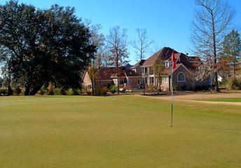 house on golf course