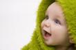 Leinwandbild Motiv baby in green