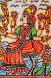 india, jaipur: popular frescoes poster