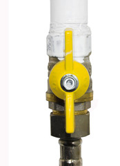 yellow valve opened