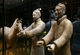 two terracotta soldier and horse from china