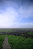 view from glastonbury tor poster