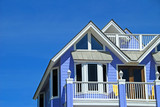 blue coastal home poster