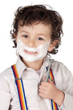 adorable child shaving poster